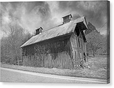 Country Barn Country Moon Country Canvas Print by Betsy Knapp
