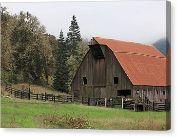 Country Barn Canvas Print by Katie Wing Vigil