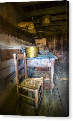 Country Cabin Canvas Print by Debra and Dave Vanderlaan