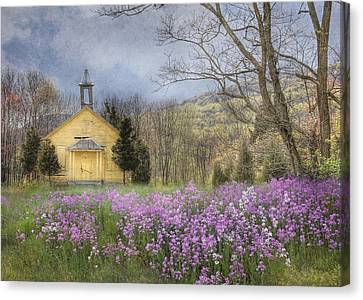 Country Charm School Canvas Print by Lori Deiter