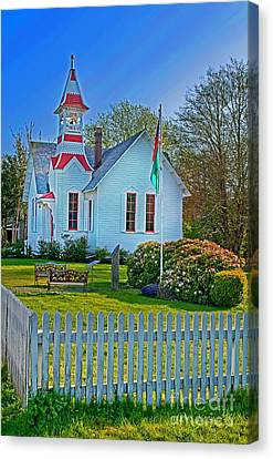Country Church In Oysterville Wa Canvas Print by Valerie Garner