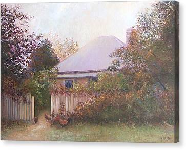 Country Cottage Autumn Canvas Print by Jan Matson