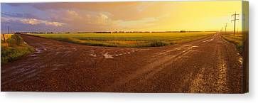 Country Crossroads Passing Canvas Print by Panoramic Images