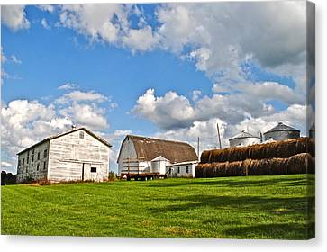 Country Farm Canvas Print by Frozen in Time Fine Art Photography