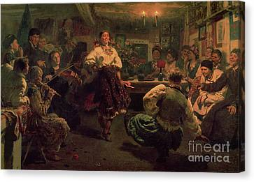 Country Festival Canvas Print by Ilya Efimovich Repin