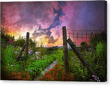 Country Garden Canvas Print by Debra and Dave Vanderlaan