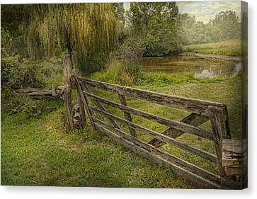 Country - Gate - Rural Simplicity  Canvas Print by Mike Savad