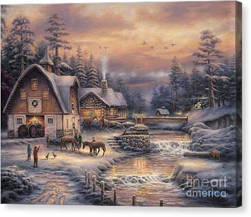 Country Holidays 2 Canvas Print by Chuck Pinson