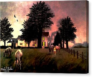 Country Home Canvas Print by Michael Rucker
