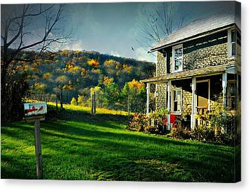 Country Home Style Canvas Print by Diana Angstadt