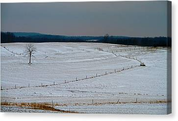 Country Landscape In Winter Canvas Print by Dan Sproul