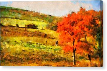Country Living Autumn Canvas Print by Dan Sproul