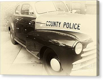 Country Police Antique Toned Canvas Print by John Rizzuto