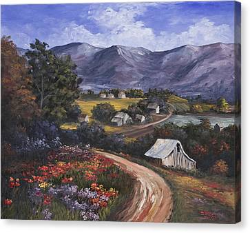 Country Road Canvas Print by Darice Machel McGuire