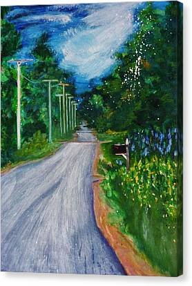 Country Road Canvas Print by Nancy Milano