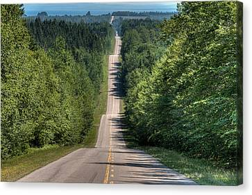 Country Road On Rolling Hills Canvas Print by Matt Dobson