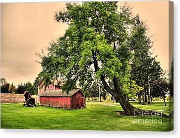 Country Scene Canvas Print by Kathleen Struckle