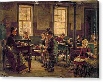 Country School, 1890 Canvas Print by Granger