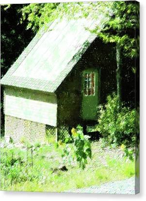 Country Shed Canvas Print by Florene Welebny