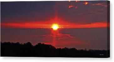 Country Sunrise 003 Canvas Print by George Bostian