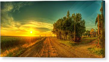 Country Sunrise Canvas Print by  Caleb McGinn