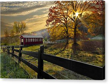 Country Times Canvas Print by Debra and Dave Vanderlaan