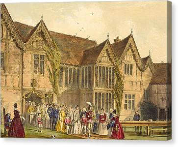 Country Wedding, Ockwells Manor Canvas Print by Joseph Nash