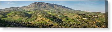 Countryside To The North Of The Old Canvas Print by Panoramic Images
