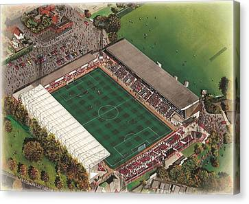 County Ground - Swindon Town Canvas Print by Kevin Fletcher