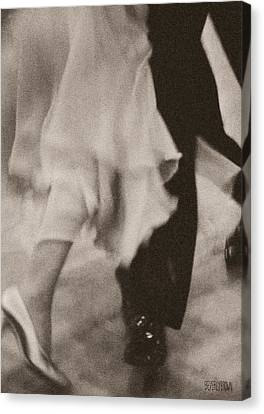 Couple Ballroom Dancing Legs Canvas Print by Beverly Brown Prints