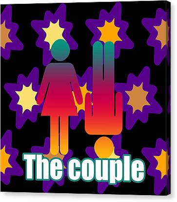 Couple In Popart Canvas Print by Toppart Sweden