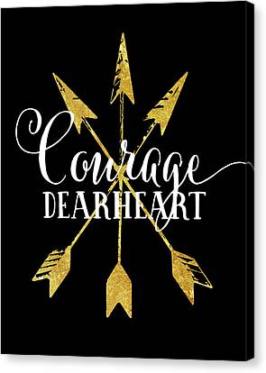 Courage Dearheart Canvas Print by Amy Cummings