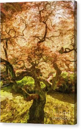 Courage Tree Canvas Print by Jean OKeeffe Macro Abundance Art