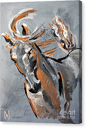 Courage - Horse Art By Valentina Miletic Canvas Print by Valentina Miletic