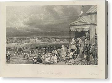 Cources De Chantilly Canvas Print by British Library