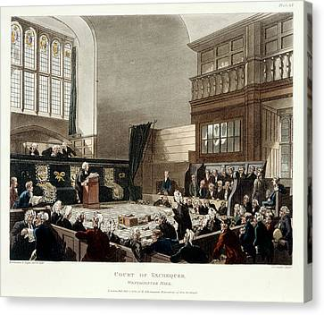 Court Of Exchequer Canvas Print by British Library