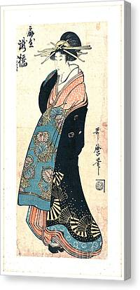 Courtesan Takihashi Ogi-ya 1800 Canvas Print by Padre Art