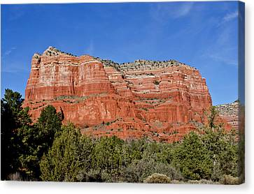 Courthouse Butte Ribboned Red Rocks Canvas Print by Jan and Stoney Edwards