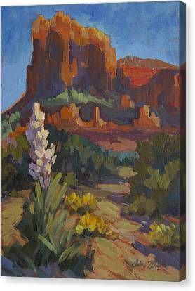 Courthouse Rock Sedona Canvas Print by Diane McClary