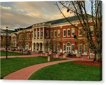 Courtyard Dining Hall - Wcu Canvas Print by Greg and Chrystal Mimbs