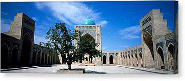 Courtyard Of A Mosque, Kalon Mosque Canvas Print by Panoramic Images