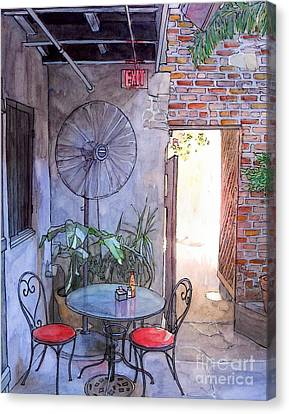 Courtyard Of The Napoleon House Canvas Print by John Boles