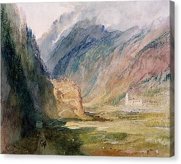 Couvent Du Bonhomme Chamonix Canvas Print by Joseph Mallord William Turner