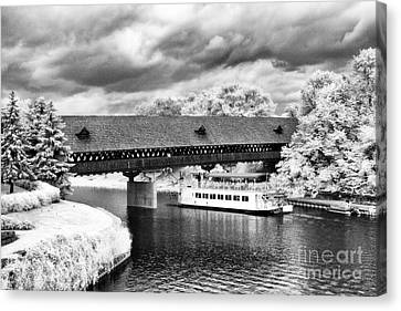 Covered Bridge In Frankenmuth Canvas Print by Jeff Holbrook