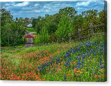 Covered Bridge Canvas Print by Tom Weisbrook