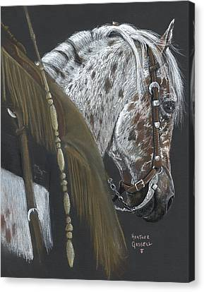 Cowboy Canvas Print by Heather Gessell