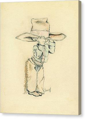 Cowboy Canvas Print by Sam Sidders