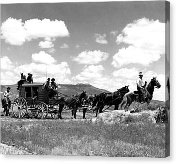 Cowboy Wagon Ride Canvas Print by Retro Images Archive