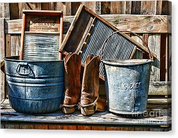 Cowboys Have Laundry Too Canvas Print by Paul Ward