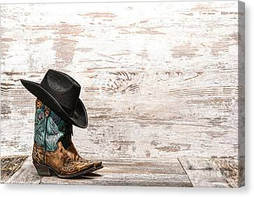 Cowgirl Boots Canvas Print by Olivier Le Queinec